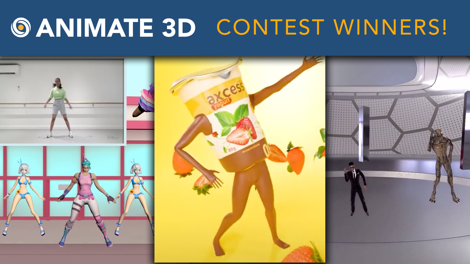 Animate 3D - Contest Winners!