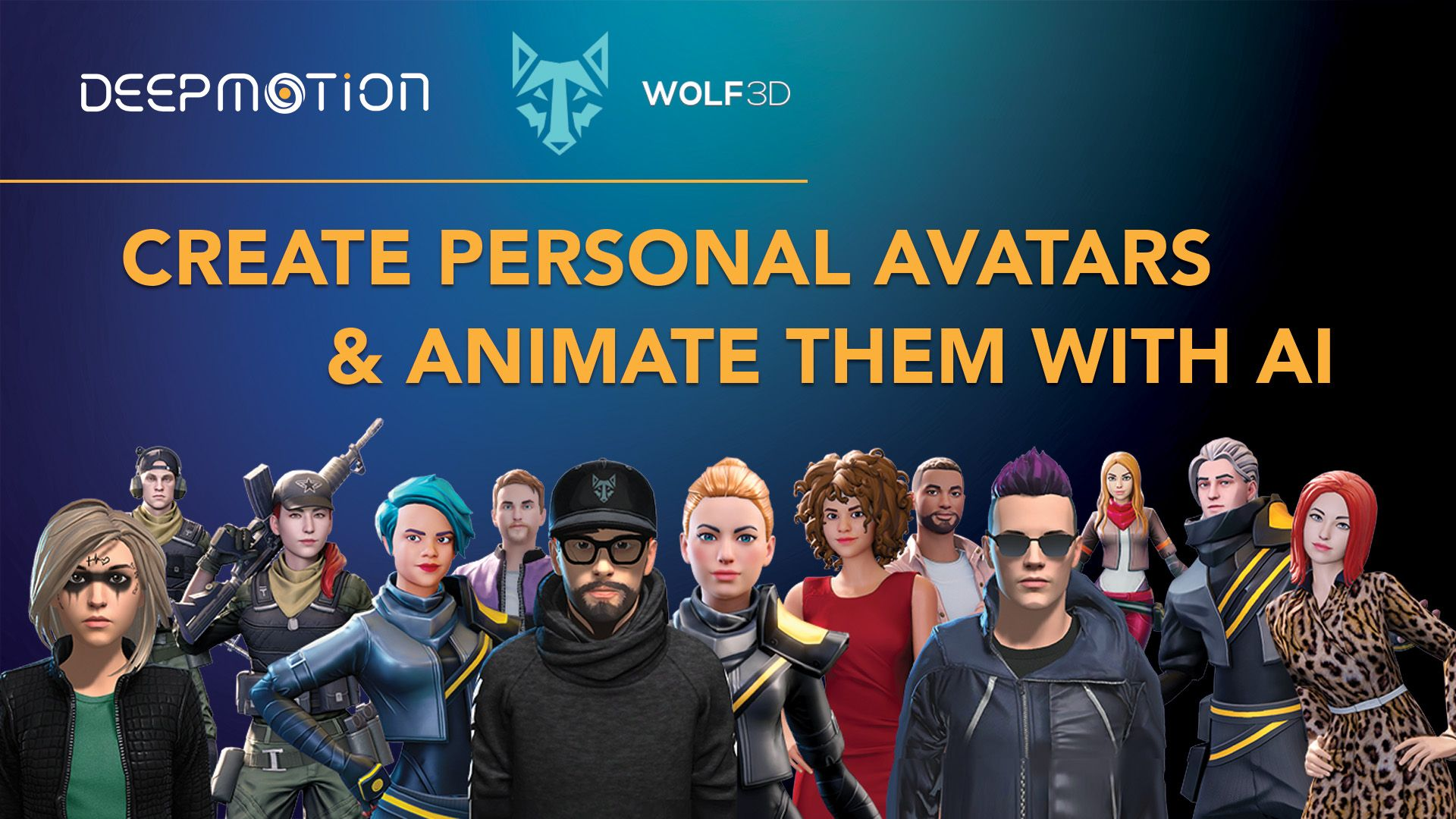 DeepMotion + Wolf3D: Create Personal Avatars & Animate Them With AI
